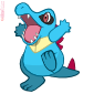 Totodile Vector